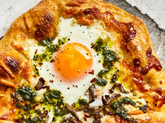 Smoky Breakfast Pizza