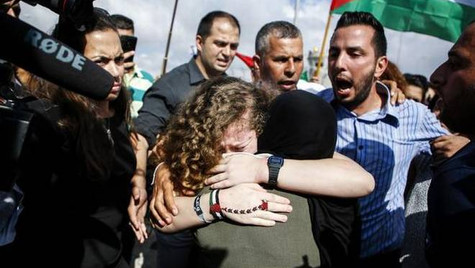 Ahed Tamimi: la joven ícono de la resistencia palestina, salió en libertad