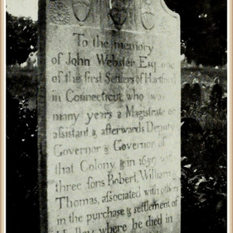 Gov. John Webster (1590-1661) burial in Hadley
