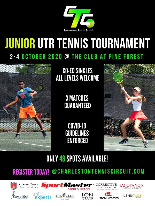 Upcoming Junior Tennis Tournament October 2-4, 2020 for junior tennis players of all levels age 18 and younger.