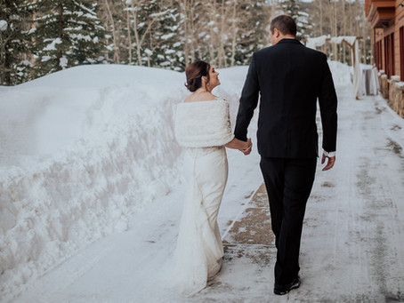 Alley + Jeremy's Gorgeous Winter Wedding in Colorado!