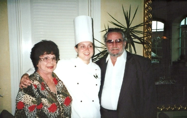 Nini and Poppop at my Culinary School Graduation, September 13, 2001