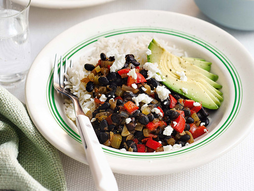 Rice and Black Bean Burrito Bowl