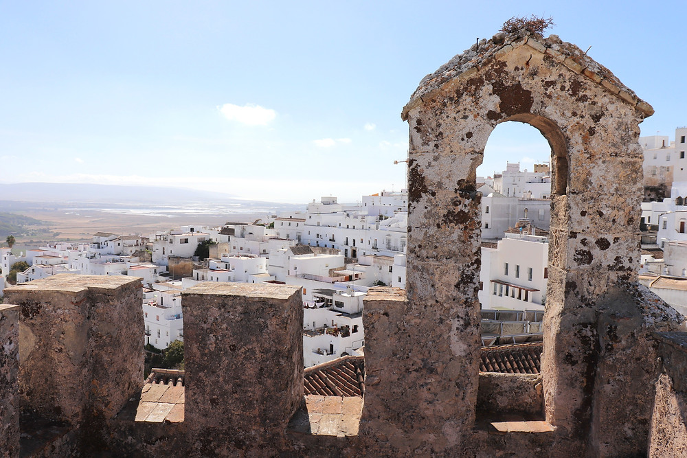 View of Vejer de la Frontera from the castle view point southern spain