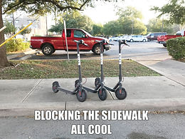 Dockless scooters in San Antonio; I see why Los Angeles might ban them.