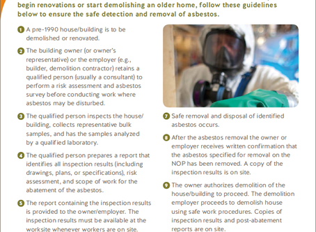 Ten Simple Steps to Complying with Asbestos Abatement