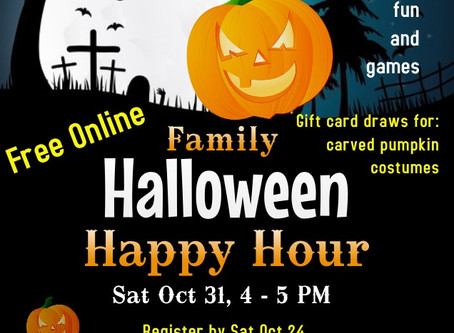 Family Friendly Halloween Happy Hour by Parent support Network oct 24