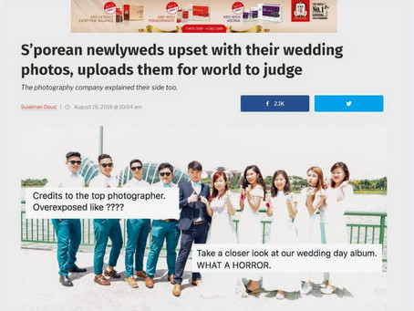 S'porean newlyweds upset with their wedding photos