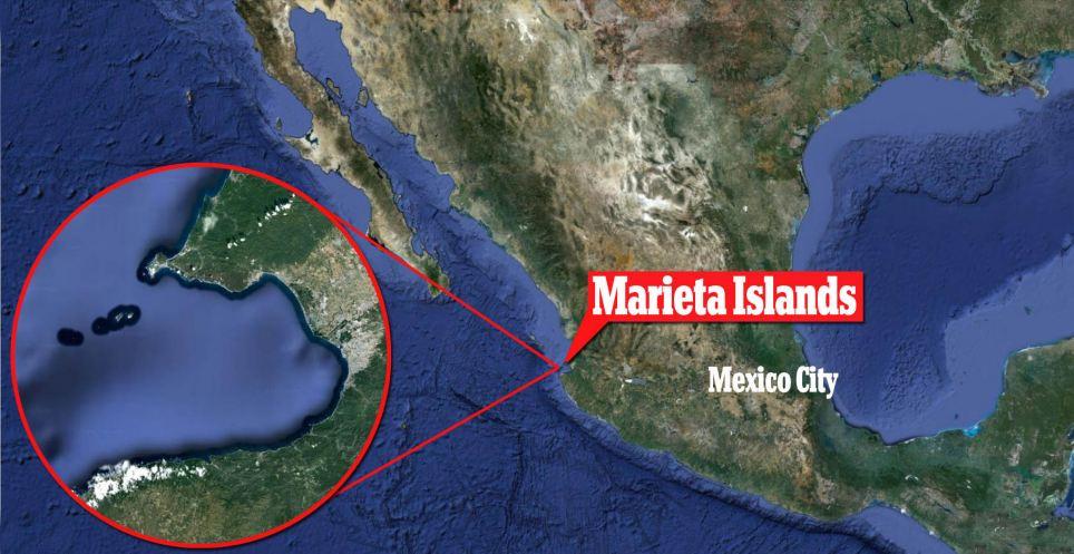 plage cachée des iles Marietas map