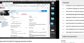 Using YouTube to Make Transcripts