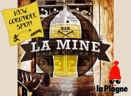 Neuer Cornhole Spot: Kneipe La Mine in La Plagne