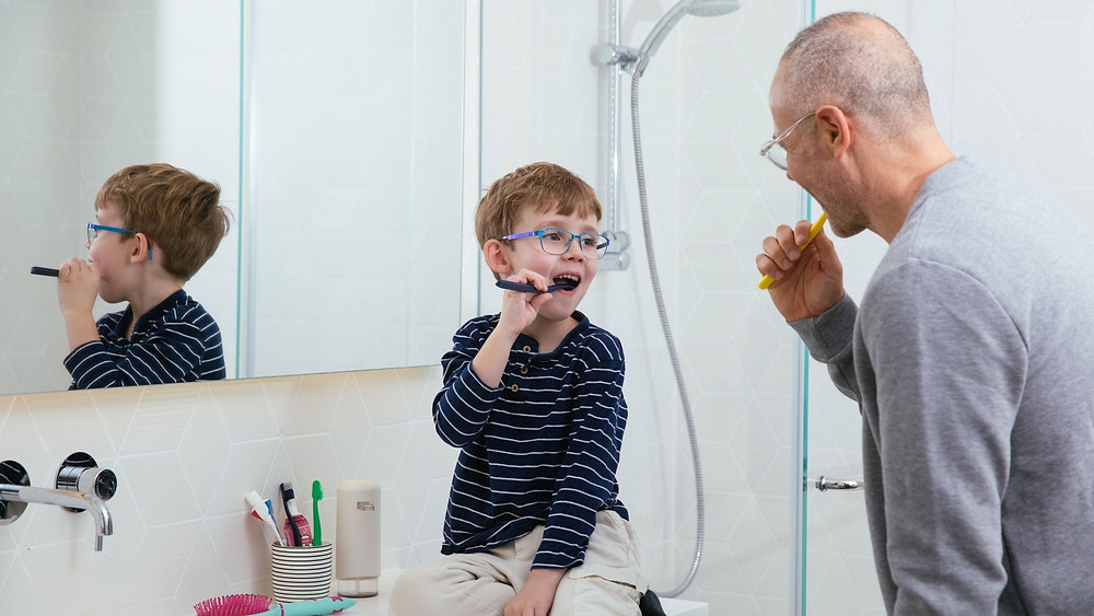 Brushing our teeth properly is an important skill to develop when we are young.