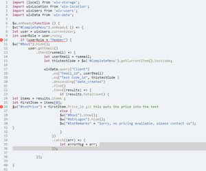 Code Error Help (SOLVED) | Corvid Forum | Corvid by Wix