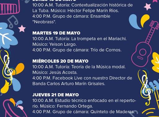 PROGRAMACIÓN BANDA MUNICIPAL DE MANIZALES - SEMANA DEL 18 AL 22 DE MAYO