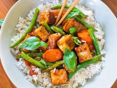 Crispy Vegetarian Tofu Stir-Fry