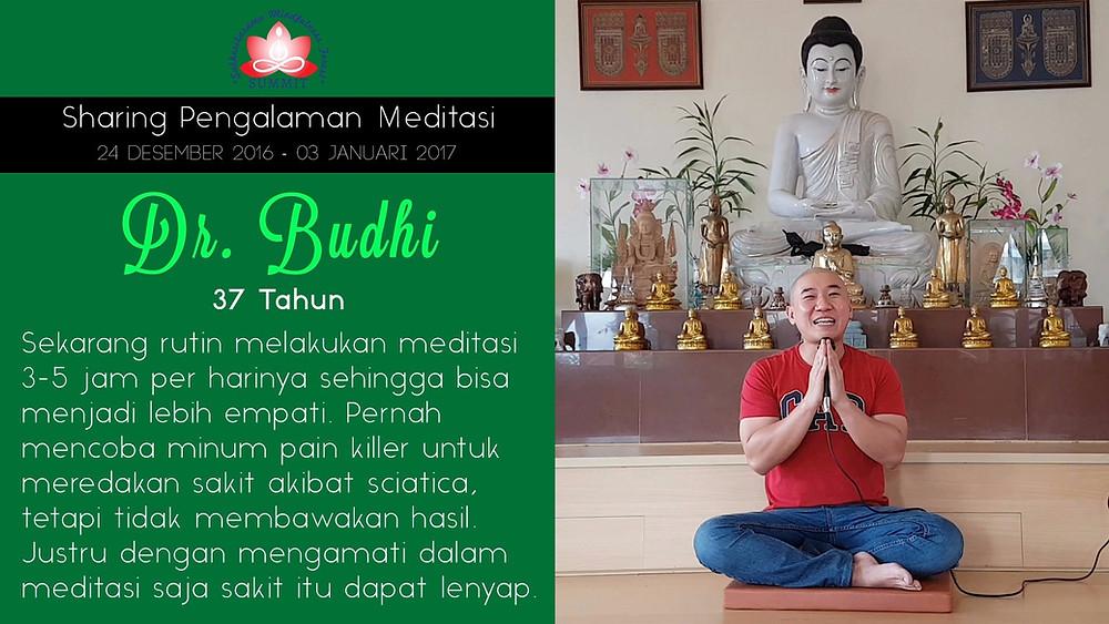 Dokter yang rutin Meditasi - Sharing oleh DR. BUDHI