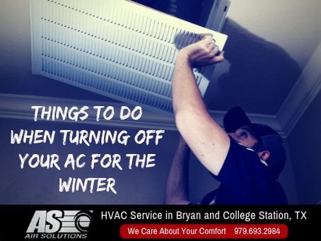 4 Things to Do When Turning Off Your AC For the Winter