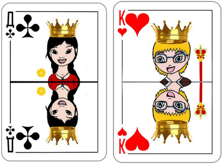 Nouveau défi créatif: cartes reines et rois