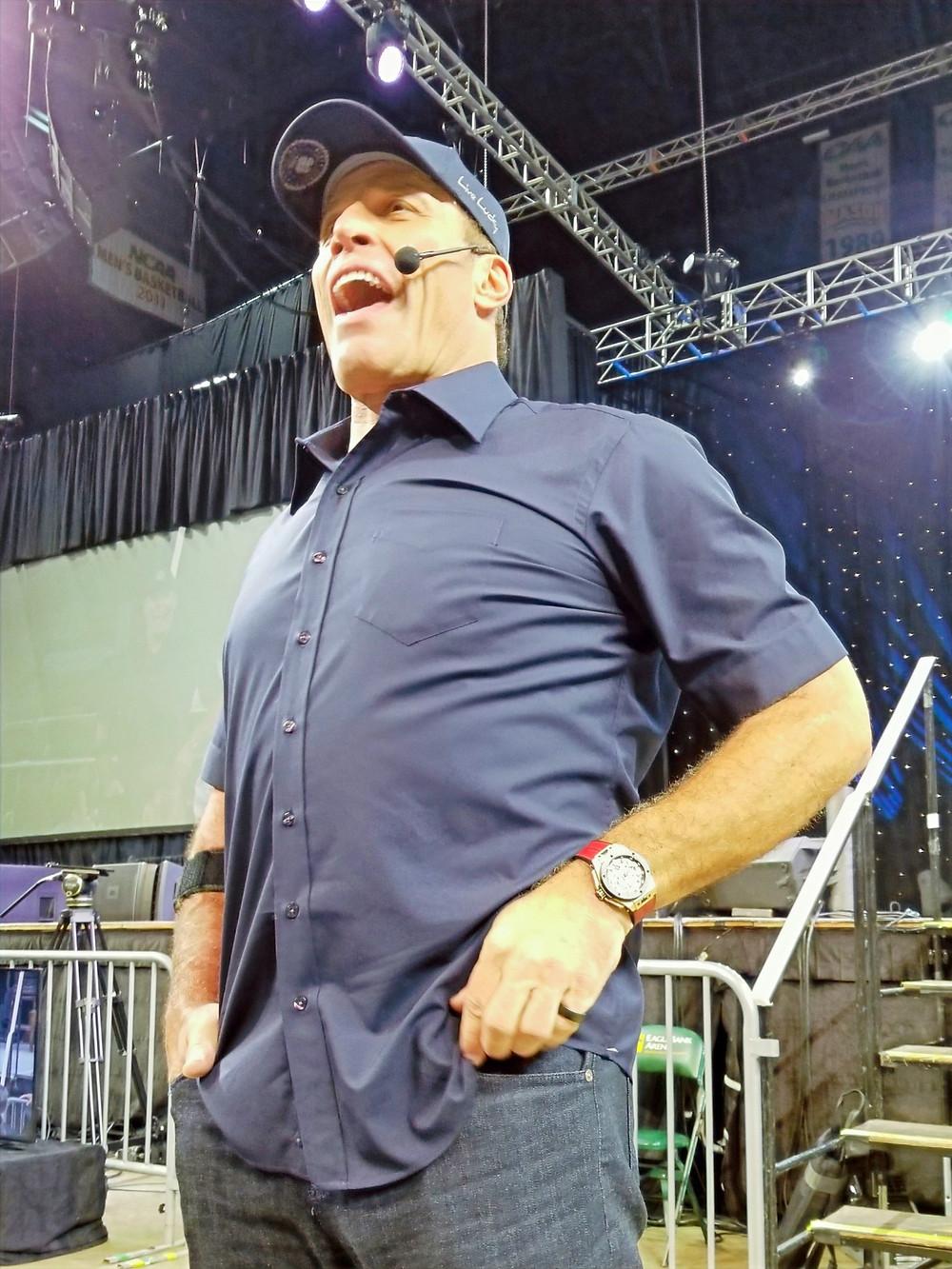 Trident Strategies front row with Tony Robbins.