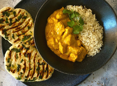 Healthy Chicken Korma and Mini Naan