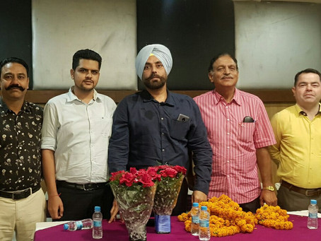 Mr. K.P Singh elected as new President of Chandigarh Football Association.