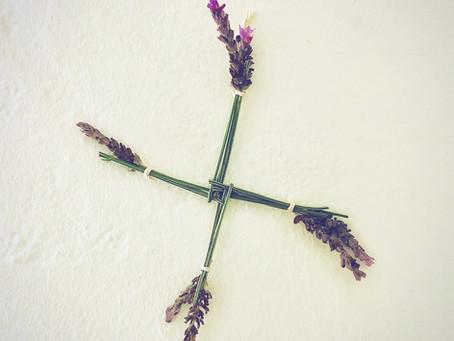 Brigid's Cross for Imbolc