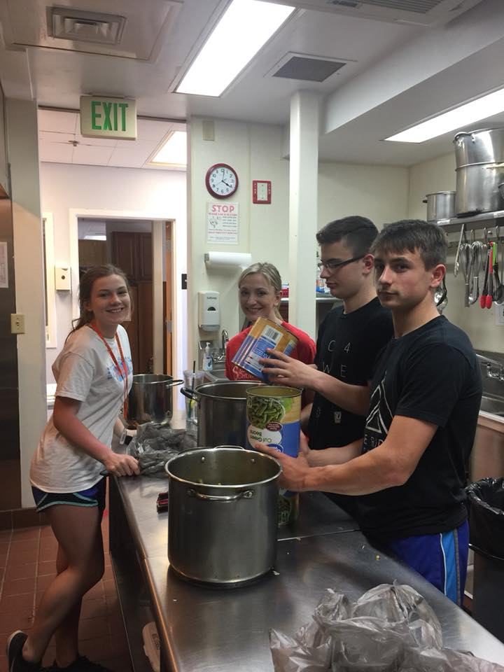 Spend time with your children by volunteering together a homeless shelter