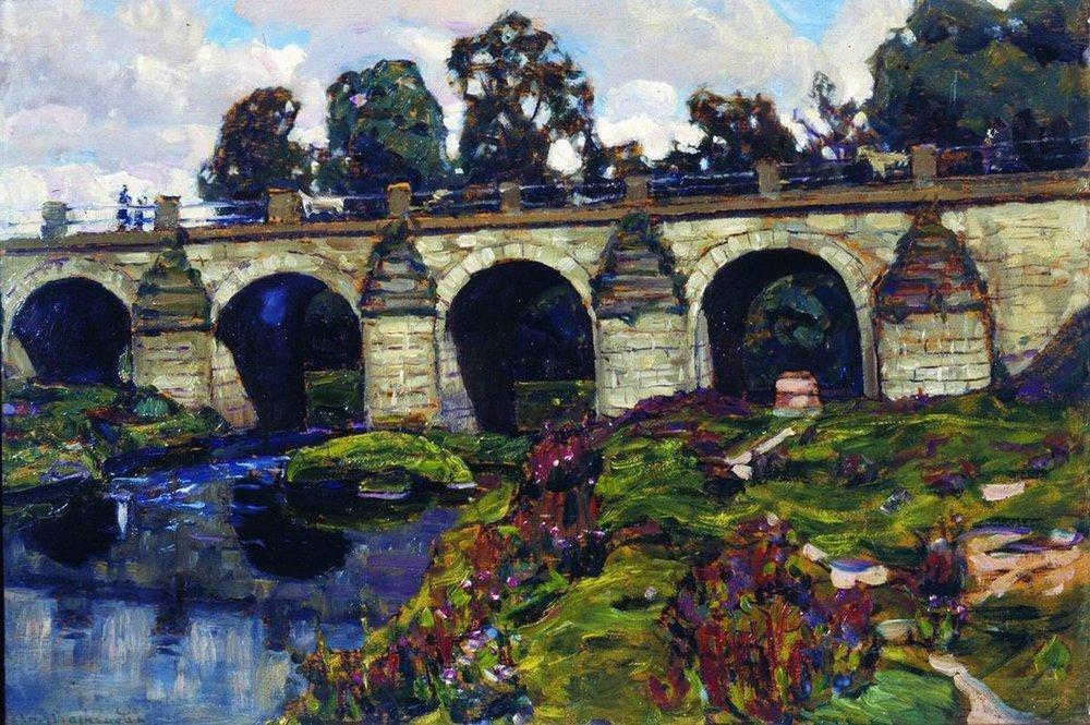 Дворцовый мост XVIII века через реку Яузу. Лефортово (1920-е)