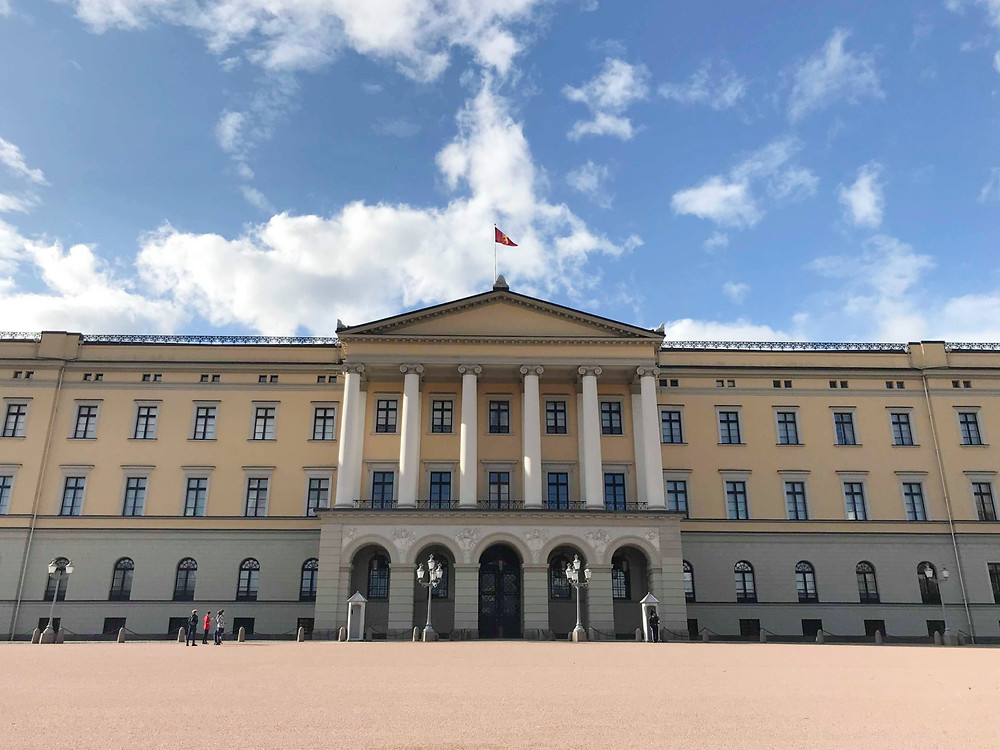 Royal Palace from the outside in Oslo, Norway