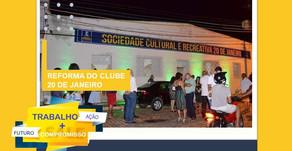 América Dourada: A Prefeitura reforma do Clube 20 de Janeiro.
