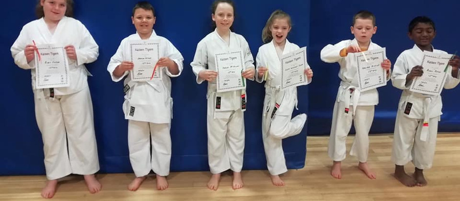 KNM Tigers Grading with Sensei Andrew Jones 5th Dan JKS - Thursday 28th March 2019