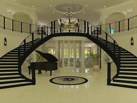 #Grand Staircase Entry Architectural Design Renderings