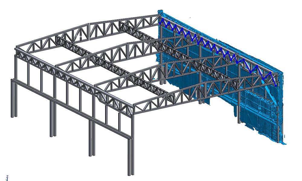 Ingeniería inversa de estructuras industriales - arquitectura con escaneado laser 3D - nube de puntos - Barcelona