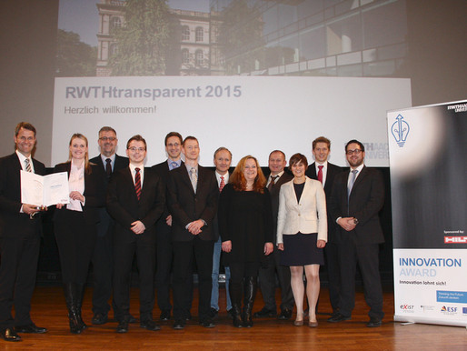 SenseUp awarded with the Innovation Award of RWTH-Aachen university