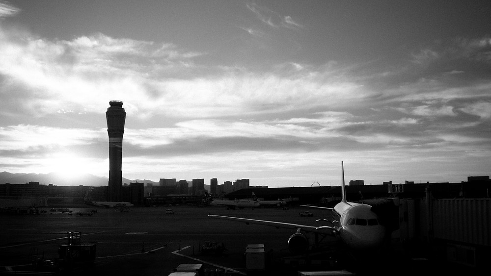 Sunset at the Las Vegas airport