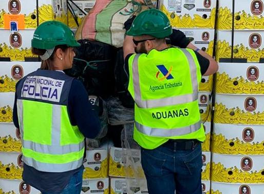 Se encontró cocaína en cargamento de bananas ecuatorianas