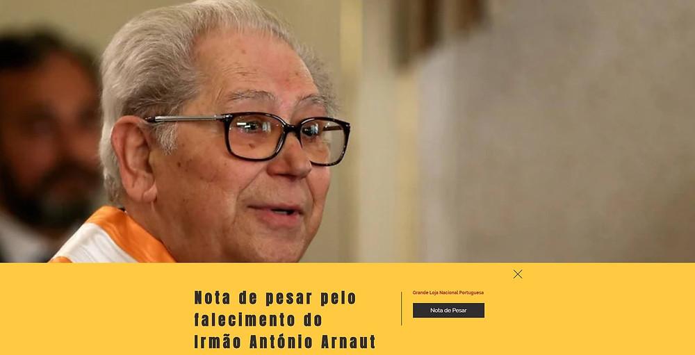 Maçonaria - Nota de Pesar emitida pela Grande Loja Nacional Portuguesa | www.glantigos.org