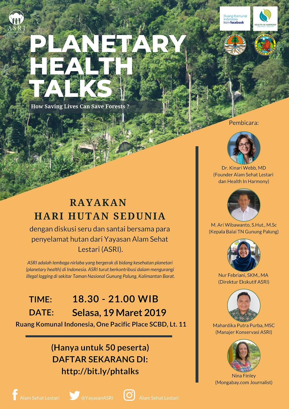 Diskusi tentang kesehatan hutan dan kesehatan dunia