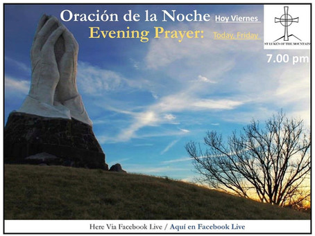 Friday Evening Prayer August 14, 2020