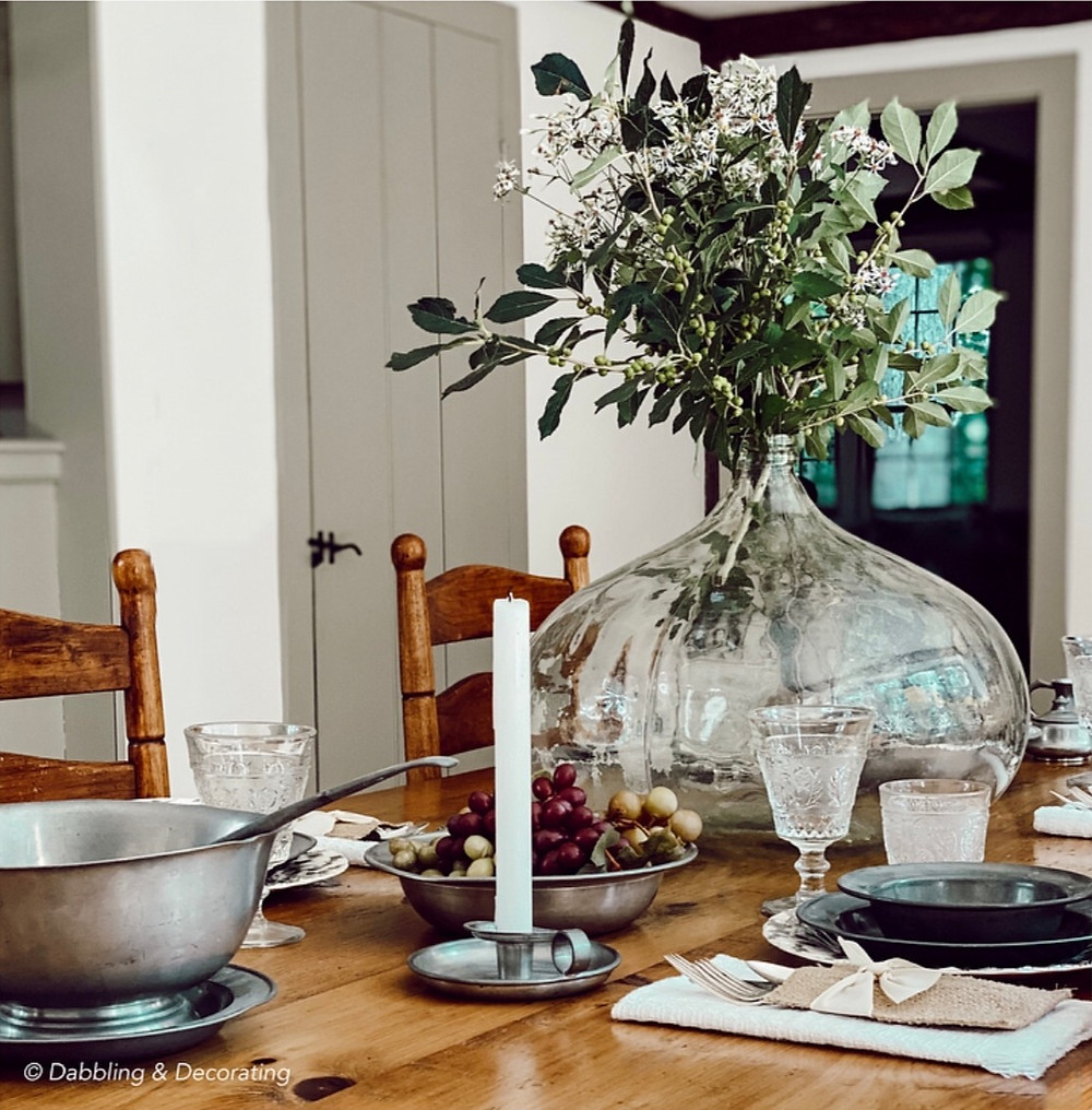 Decorating a Table with American Country Antiques