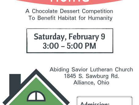 Abiding Savior Dessert Competition to Raise Apostle Build Funds!