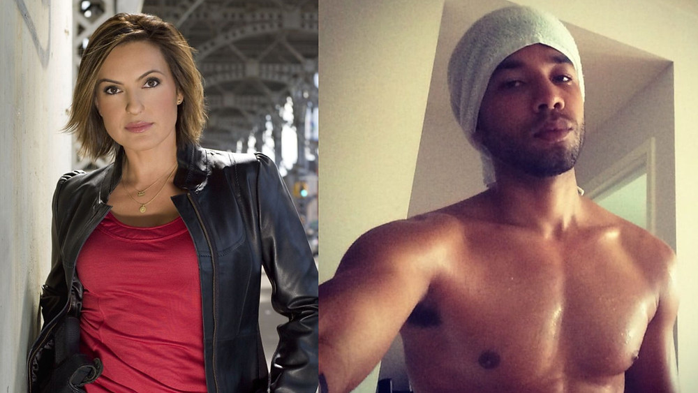Mariaska Hargitay as Olivia Benson (pictured lef)t . Jussie Smollett (pictured right)