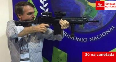 Decreto que flexibiliza posse de arma sai este mês, diz Bolsonaro