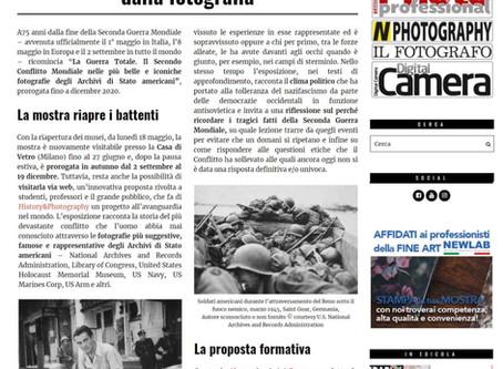 """Il Fotografo.it scrive """"LA MOSTRA RIAPRE I BATTENTI"""" #laGuerraTotale torna visitabile. Vi aspettiamo"""