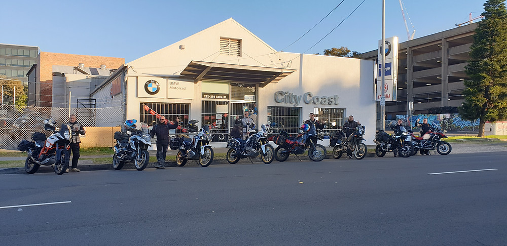 The start of Day1, City Coast Motorcycles