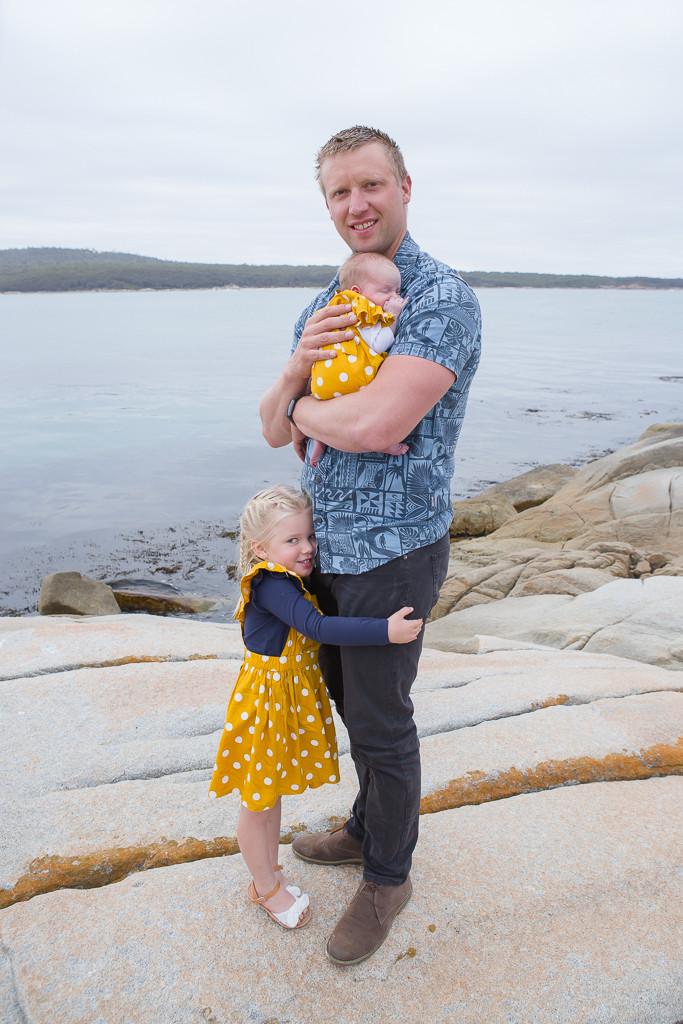Newborn photography, Tasmania, East Coast Tasmania, St Helens, family session