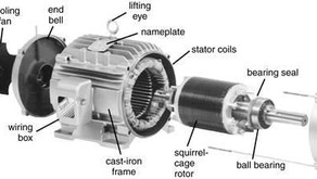 Parts Of A Induction Motor