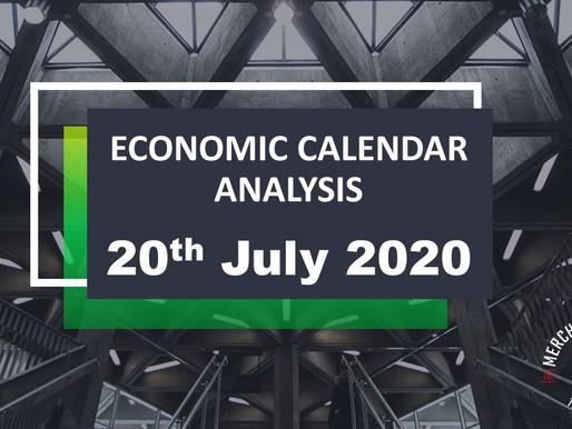Merchant Economic Calendar | July 20, 2020