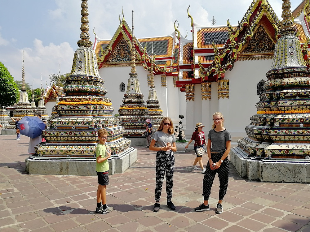 Tour du monde à vélo en famille 2018 - 2019 : Bangkok, Wat Pho