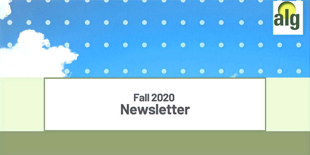 A cover image of the ALG Fall 2020 newsletter